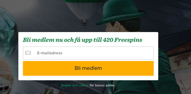 Just nu 420 free spins hos Mr Green