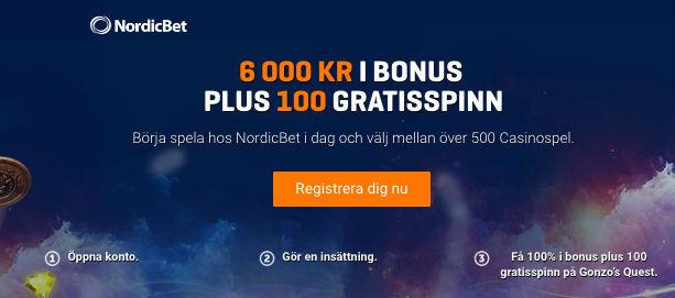 Så kan du få 6000kr hos NordicBet casino