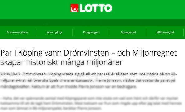 Kärlekspar vann 86-miljoner i Köping