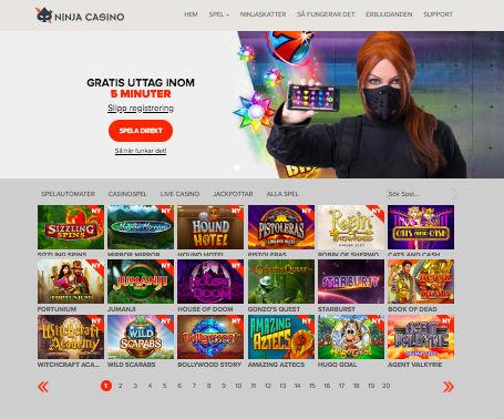 Ninja casino bonus bild