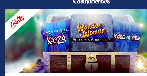 Nya spel från Bally hos Casino Heroes